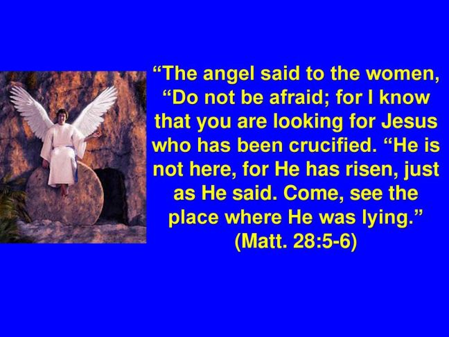 (Matt. 28:5-6)